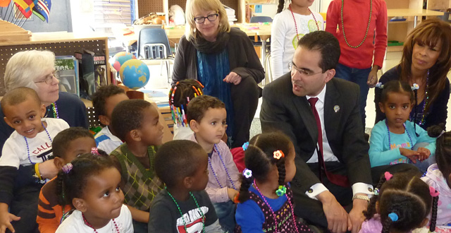 Providence, Rhode Island Mayor Angel Taveres visits Mile High Montessori